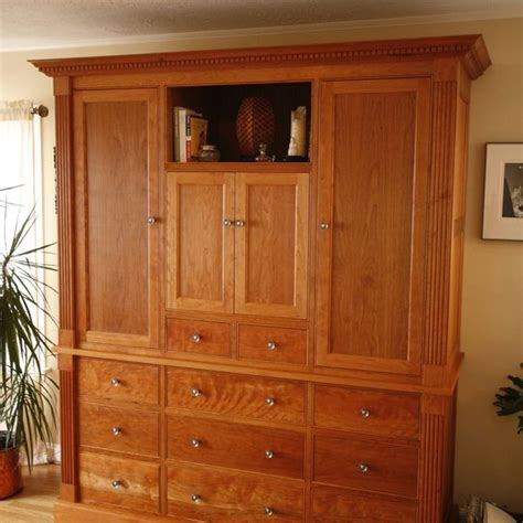 Built In Armoire by Custom Built In Armoire By Woodworks Custommade