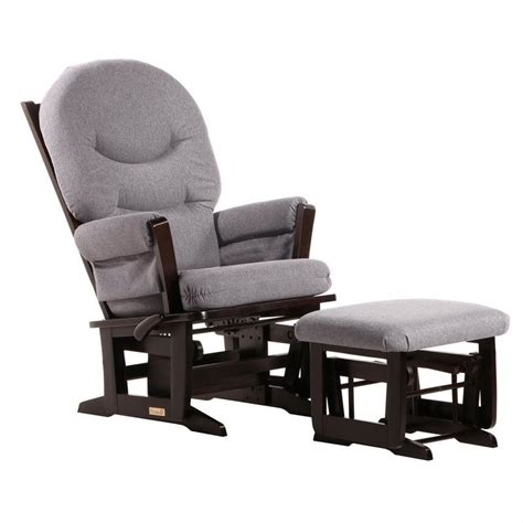 Glider Ottoman Set Dutailier Modern Glider And Ottoman Set In Espresso And Gray C26 84c 69 3128