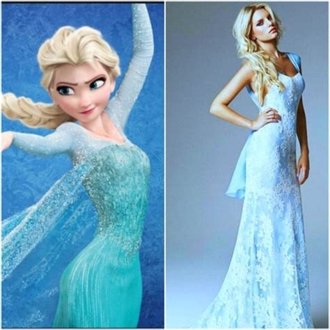Dress Frozen Blue blue wedding dress don t like the real dress but frozens is inspiring say yes to the