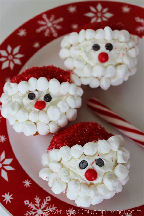 easy christmas food crafts santa cupcakes food craft