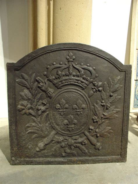 Cast Iron Fireplace Fireback by Small Antique Cast Iron Fireback From The 1800s At