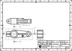 mechanical drawing template ross leeroy portfolio engineering drawing and
