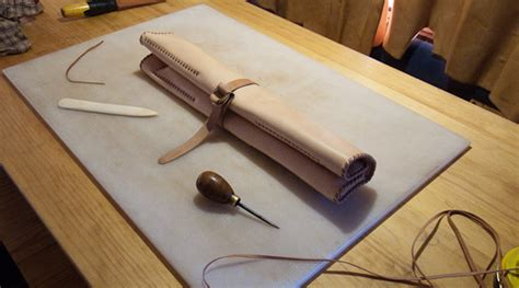 pattern for knife roll sewing leather