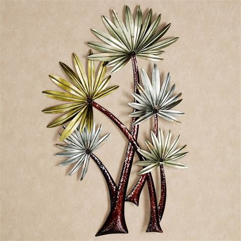tropical metal wall decor caribbean retreat tropical palm metal wall sculpture