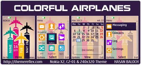 nokia c2 colorful themes colorful airplanes theme for nokia x2 00 c2 01 x2 05