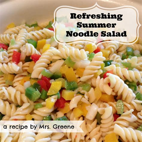 noodle salad recipes recipe refreshing summer noodle salad and 20 more