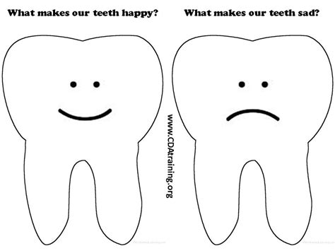 Sad Template image gallery outline sad tooth