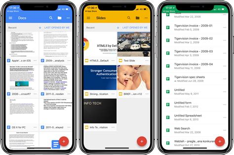 docs mobile updates docs sheets and slides with iphone x ios