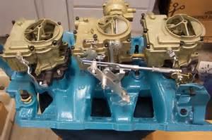 Pontiac Tri Power Carbs Rochester Carb Inquiry For 3 X 2 Set Up The H A M B