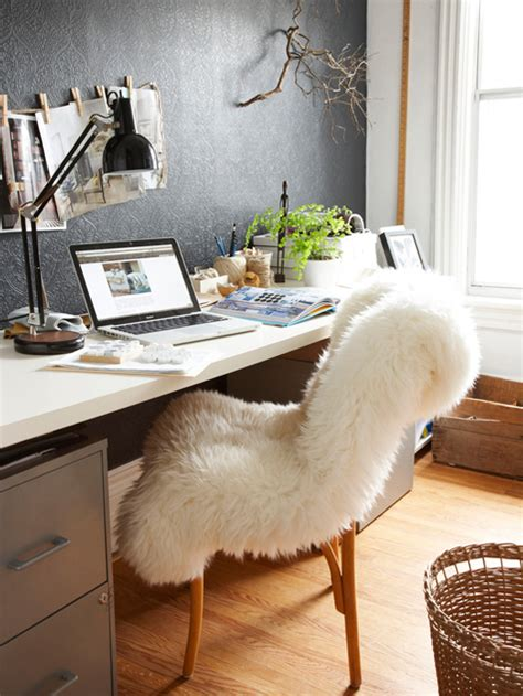 fluffy desk chair ikea use a fluffy sheepskin on your chair for your home office