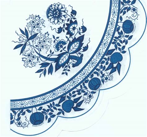 blue onion pattern round party napkins of zwiebelmuster blue danube blue onion