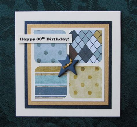 Handmade Mens Birthday Cards - handmade by kath happy 80th birthday