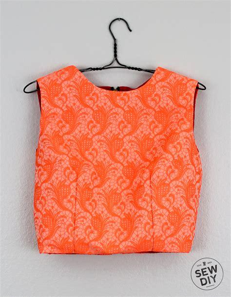 sewing pattern crop top diy brocade crop top sew diy