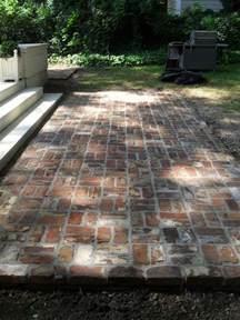 Outdoor Patio Bricks by Reclaimed Brick Patio Garden Pinterest