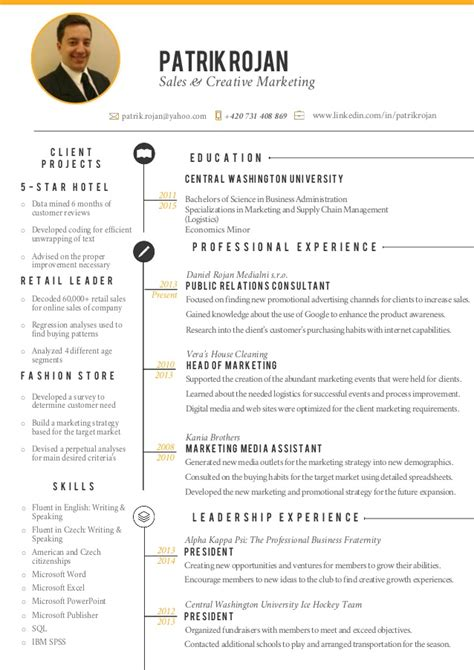 sle of creative resume creative resume