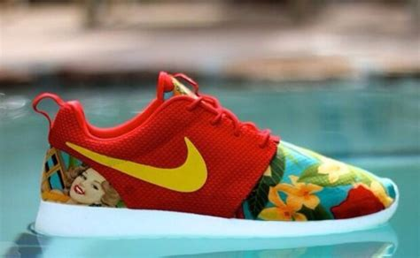 bright colored nike shoes shoes nike nike roshe run floral nike shoes womens
