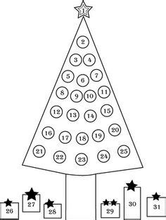 4 Best Images Of Printable Christmas Countdown Tree Countdown Coloring Pages