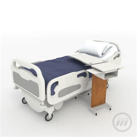 medical bed hospital patient bed 3d model