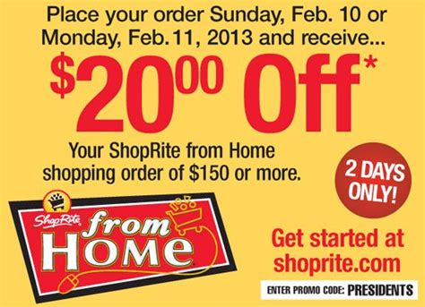 shoprite from home discount 20 home grocery delivery