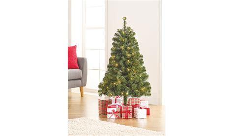 asda pre lit xmas trees 4ft pre lit tree shop george