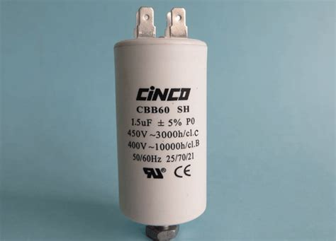 Kapasitor 40 Uf 1 5 Uf 400 Vac 1 5uf 400v 450vac cbb60a motor run capacitors cinco capacitor china ac capacitors factory