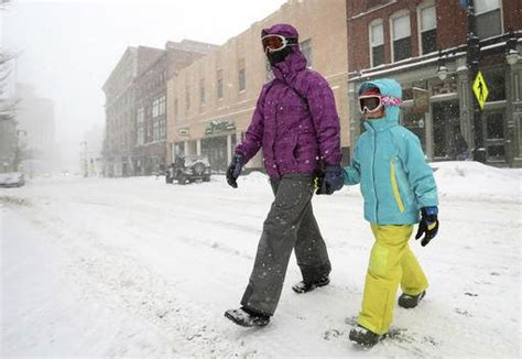 Dress Snow Rnc Northeast Hit By Its Snowstorm Of The Winter