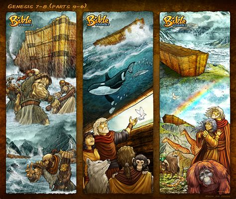 bible stories in genesis bible stories comic strips genesis 7 8 noah p4 6 by