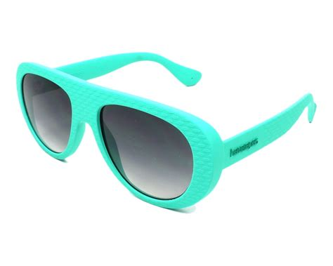 turquoise blue glass ls havaianas sunglasses turquoise with grey lenses m qpp