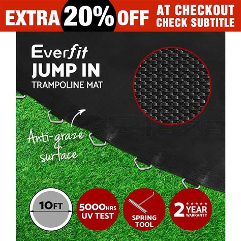 10 Ft Replacement Troline Mat by Everfit 10ft Replacement Troline Mat Spare