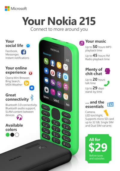 nokia new phones 2015 microsoft s new nokia feature phone brings a whole new