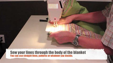 how to make a comforter how to sew a blanket or quilt with two sheets and some