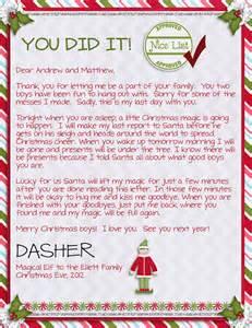 15 helpful elf on the shelf goodbye letters