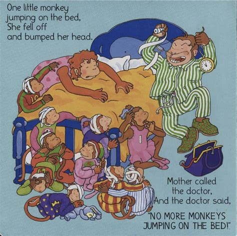 ten little monkeys jumping on the bed but seriously no more monkeys jumping on the bed