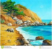 Paysage De La Mer M&233diterran&233e Avec Une Plage Et Baie