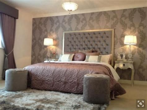 wallpaper bedroom feature wall wallpaper or paint home design