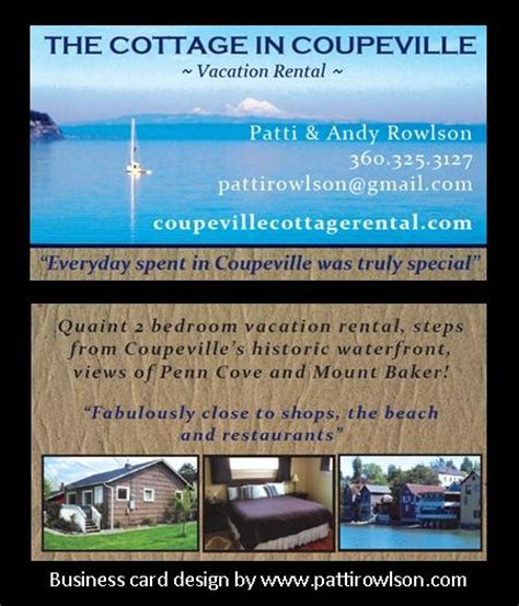 vacation home rental business pin by patti rowlson on business cards