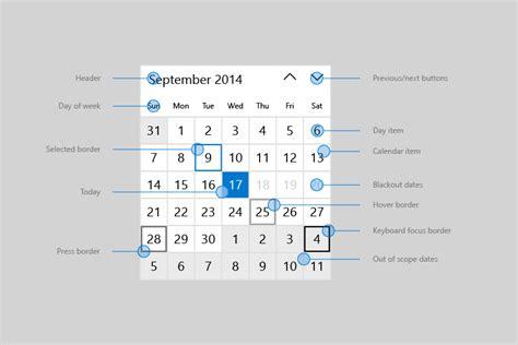 Calendar View Calendar View Uwp App Developer Microsoft Docs