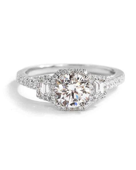 Bridal Gold Ring by White Gold Engagement Rings Martha Stewart Weddings