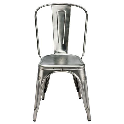 chaise a tolix chaise a de tolix acier brut gris lasur 233