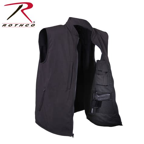 black concealment 86500 rothco black concealed carry soft shell vest ebay