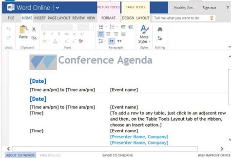 free agenda templates for word powerpoint presentation