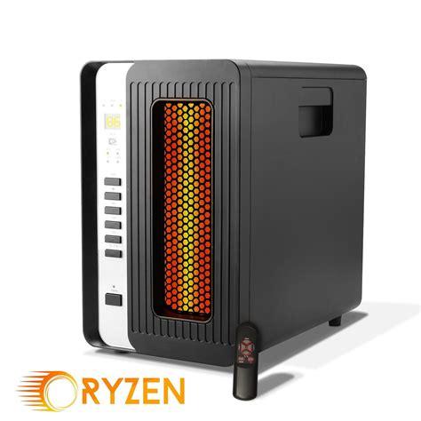 5000 Ceramic Heater by Ryzen H 5000 Pro Portable Infrared Quartz Heater W Remote