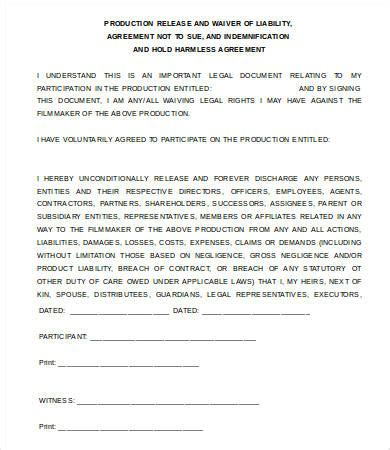 Waiver Template Word