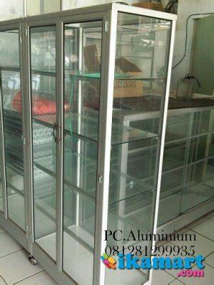 Jual Etalase Aluminium Jakarta jual etalase jemuran rak piring gerobak lemari tangga