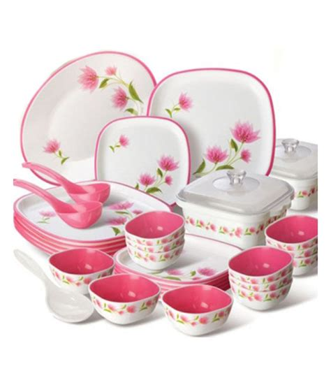 dinner set nayasa printed microwaveable dinner set 32 pcs buy
