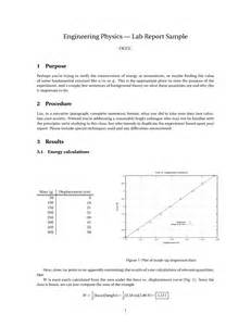 physics lab report template best photos of engineering report exles engineering