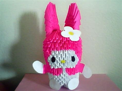 3d origami melody tutorial pin 3d origami pochacco dog tutorial on pinterest