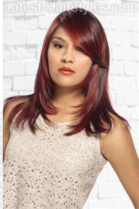 brunette red hairstyles 30 fabulous ideas for dark brown hair with highlights