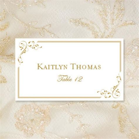 Place Card Templates Staples by Avery Table Place Cards Template