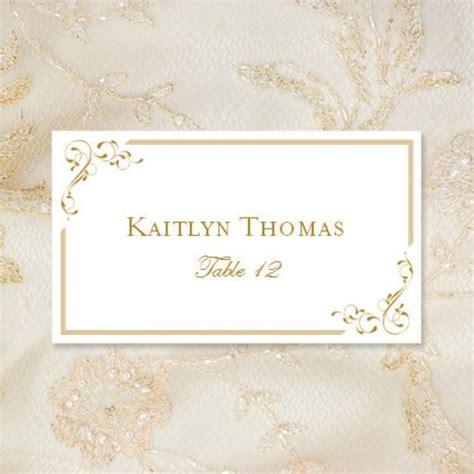 printable place cards elegance  gold editable worddoc